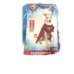 Medium dog Halloween superman costume 3 pieces